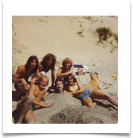 Party on the dunes, Grand Haven, MI 1976